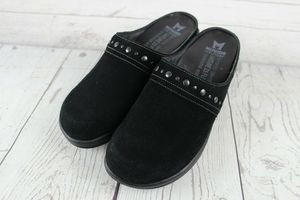 Mephisto Air-Relax 7 Black Suede Clogs Mules